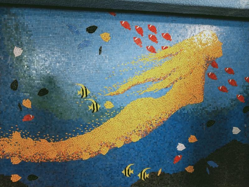 京急油壺マリンパーク 人魚のタイル